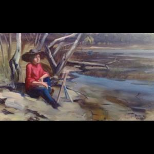 Jessi Painting at Narrabeen